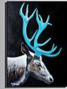 Peint a la main Animaux Format Vertical, Rustique Moderne Toile Peinture a l\'huile Hang-peint Decoration d\'interieur Un Panneau