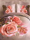 Duvet Cover Sets 3D Polyester Reactive Print 4 PieceBedding Sets / 400 / 4pcs (1 Duvet Cover, 1 Flat Sheet, 2 Shams)