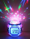 1pc alarmă ceas proiector de noapte lumina de noapte colorat aaa baterii alimentate pentru copii color-schimbare ziua de naștere noptiere baterie