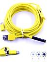 3 in 1 endoscop usb 6 condus impermeabil ip67 inspecție borescop camera șarpe 7mm dia 5m cablu dur pentru pc android