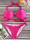 Pentru femei Uscare rapidă Lin Material Ușor Compresie Chinlon Costum de plajă Bikini Costume de Baie Înot