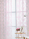Grommet Top Double Pleat Pencil Pleat Curtain Modern, Printed Graphic Prints Bedroom Polyester Blend Material Sheer Curtains Shades Home