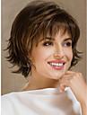 Syntetiska peruker Naturligt vågigt Frisyr i lager Pixie-frisyr Densitet Utan lock Dam Brun Celebrity Wig Naturlig peruk Korta Syntetiskt