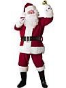Nisse drakter julenissen Cosplay Kostumer Julefest Tilbehoer Herre Jul Jul Halloween Festival / hoeytid polyester Roed Karneval Kostumer Lapper