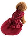 Hund Klänningar Hundkläder Enfärgad Paljett Röd Blå Terylen Kostym För husdjur Dam Semester Mode Bröllop