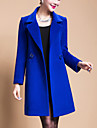 Pentru femei Mărime Plus Size Palton Ieșire Șic Stradă - Mată, Supradimensionat Lână