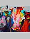 HANDMÅLAD Djur Horisontell, Djur Moderna Duk Hang målad oljemålning Hem-dekoration En panel
