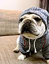 Chien Pulls a capuche Vetements pour Chien Britannique Cafe Bleu Coton Costume Pour les animaux domestiques Homme Femme Decontracte /