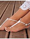 Material Textil Accente de picior Vară Casual Alb