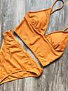 Pentru femei Bustieră Bikini Costume de Baie Sexy Alb Negru Portocaliu