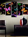 Kanvas Tryck Moderna, Fem paneler Duk Vertikal Tryck väggdekor Hem-dekoration