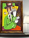 Djur Oljemålning Väggkonst,Aluminum Legering Material med ram For Hem-dekoration ramkonst Vardagsrum