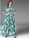 Pentru femei Swing Rochie Floral Talie Înaltă Maxi