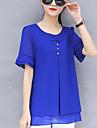 bluza din poliester pentru femei - solid, cu margele