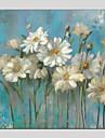 HANDMÅLAD Blommig/Botanisk Fyrkantig, Moderna Hang målad oljemålning Hem-dekoration En panel