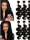 Brasilianskt hår Kroppsvågor Hårförlängning av äkta hår 3pcs Human Hår vävar