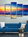 Kanvas Tryck Rustik Moderna, Fem paneler Duk Vertikal Tryck väggdekor Hem-dekoration
