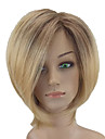 Syntetiska peruker Rak Syntetiskt hår Mittbena Blond Peruk Korta Naturlig peruk / Partyperuk Utan lock