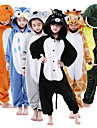 Kid\'s Kigurumi Pajamas Giraffe Animal Onesie Pajamas Flannel Toison Brown / Green / Blue Cosplay For Boys and Girls Animal Sleepwear Cartoon Festival / Holiday Costumes