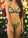 Women\'s Basic Strap Bikini - Color Block / Sexy
