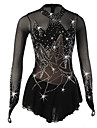 Robe de Patinage Artistique Femme / Fille Patinage Robes Noir Spandex Strass / Paillette Haute elasticite Utilisation Tenue de Patinage