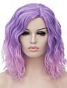 Syntetiska peruker Vågigt Bob-frisyr Syntetiskt hår Ombre-hår / Mittbena Peruk Dam Korta Naturlig peruk / Partyperuk / Halloween Paryk
