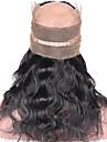 ELVA HAIR Klassisk 360 Frontal Kroppsvågor 360 Fasad Schweizisk spetsperuk Äkta hår Fria delen Mittparti 3 Del Hög kvalitet Dagligen