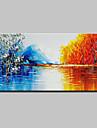 Hang-Dipinto ad olio Dipinta a mano - Astratto Paesaggi Modern Tela