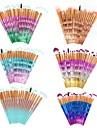 Paquet de 20 Professionnel Pinceaux a maquillage ensembles de brosses Poil Synthetique / Pinceau en Nylon Couvrant ABS Visage
