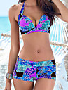 Pentru femei Mărime Plus Size Bikini - Imprimeu, Bloc Culoare