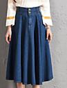 Pentru femei Mărime Plus Size Stilouri Draguț Ieșire Fuste - Mată Talie Înaltă
