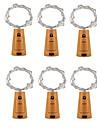 6st 2m 20led korkformad flaska propplampa glas vin silver koppar trådsträng belysning julfest bröllopsdekoration