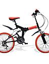 Hopfällbar Cykel Cykelsport 21 Hastighet 20 tum SHIMANO RS-35 V-broms Suspension Fork Viker PVC PVC/Vinyl Stålslang Aluminum Alloy
