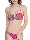 Pentru femei Bikini - Fără Spate, Floral Cu Bretele