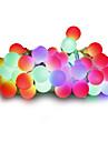 Ljusslingor 100 lysdioder Varmvit Vit Multifärg Rosa Gul Blå Röd Bimbar 220V 110-130V