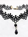 Lolita Accessoarer Klassisk/Traditionell Lolita Elegant Svart lolita tillbehör Enfärgad Halsband Spets