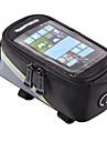 ROSWHEEL Väska till cykelramen Mobilväska 4.2/5.5/6.2 tum Vattentät Bärbar Telefon/Iphone Pekskärm Reflexremsa Slirsäker Cykelsport för