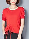 Pentru femei Tricou De Bază-Mată Stil Clasic