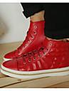 Homme Chaussures Cuir Printemps Automne Confort Basket pour Decontracte Blanc Noir Rouge