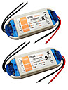 2pcs 110V / 220V a DC 12V Accessoire de feuillard Accessoire d\'ampoule Adaptateur d\'alimentation Alimentation Plastique pour la bande LED
