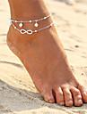 În Straturi Brățară Gleznă - Perle Infinit Dublu Stratificat, Boem, Modă Auriu / Argintiu Pentru Serată / Plajă / Bikini / Pentru femei