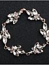 Pentru femei Cristal Brățară - Picătură, Floare European, Modă Brățări Bijuterii Auriu / Argintiu Pentru Nuntă Zilnic