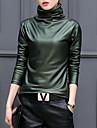 Pentru femei Guler Pe Gât - Mărime Plus Size Tricou Ieșire Bumbac Șic Stradă - Mată
