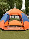 -8 אנשים Automatic Tent חיצוני קל משקל עמיד מוגן מגשם שכבה כפולה אוטומטי Dome קמפינג אוהל 1500-2000 mm ל דיג טיפוס מחנאות / צעידות / טיולי מערות טרילן PU 240*220*140   260*240*150  280*260*150 cm