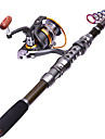 Fishing Rod + Reel Telespin Rod Carbon Steel Sea Fishing Rod & Reel Combos