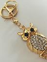 Bufniţă breloc Auriu Diamante Artificiale, Aliaj Animal, Modă Pentru Zilnic