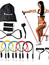 KYLINSPORT Resistance Band Set Carrying Case Ankle Strap Door Anchor Rubber Strength Training Physical Therapy Yoga Pilates Exercise & Fitness For Home Office
