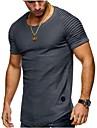 T-shirt - Taglie forti Per uomo Sport Essenziale / Moda citta Tinta unita Rotonda - Cotone / Manica corta / Estate / Taglia piccola