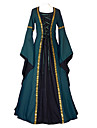 Cosplay Medieval Costume Pentru femei Costume Mov Vintage Cosplay Poliester Manșon Lung