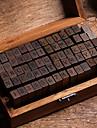 Bois / Bambou Marron fonce 1 / boite Gros Tampons 15*8.5*5cm